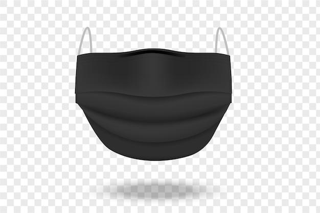 Czarna maska chirurgiczna