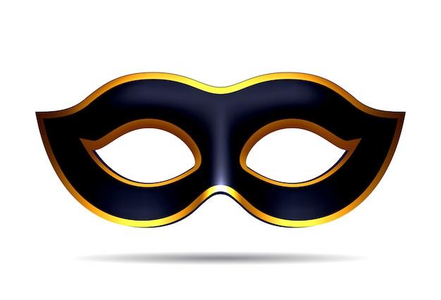 Czarna maska karnawałowa