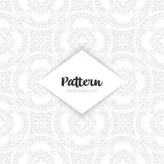 Czarna ramka wektor. orientalna rama ozdobna z dekoracyjnym wzorem