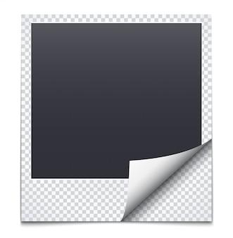Czarna ramka z papierem w kratkę