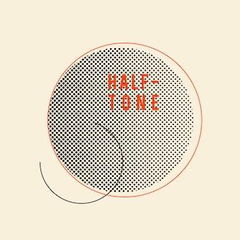Czarna rocznika halftone odznaka na beżowym tło wektorze