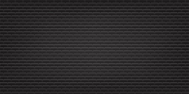 Czarna ściana z cegieł tekstury ilustracja używać jako tło i tapeta z kopii przestrzenią.