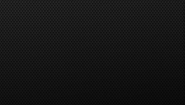 Czarna siatka wirujących sześciokątów tła. brutalna geometria