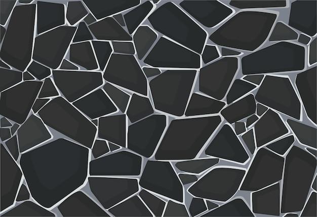 Czarna tapeta tekstura żwiru.