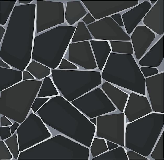 Czarna tekstura żwiru