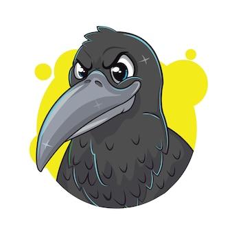 Czarna wrona cartoon