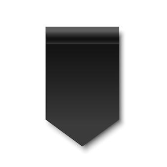 Czarna wstążka. transparent. zwój papieru. .