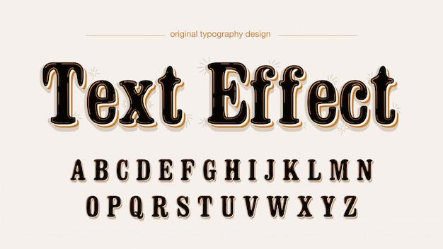 Czarna zaokrąglona czcionka serif z kolorowymi cieniami