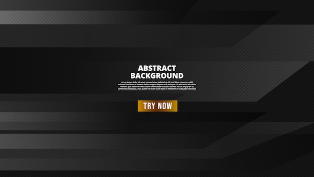 Czarne abstrakcyjne geometryczne tło. nowoczesne pojęcie kształtu