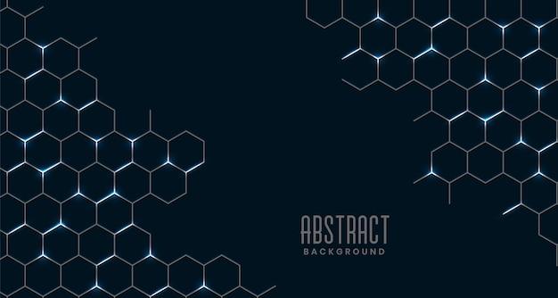 Czarne abstrakcyjne sześciokątne połączenie siatki
