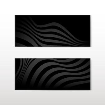 Czarne abstrakcyjne transparenty wektorów