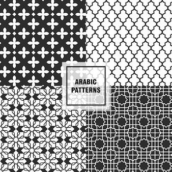 Czarne arabskie wzory