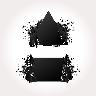 Czarne banery wybuchu