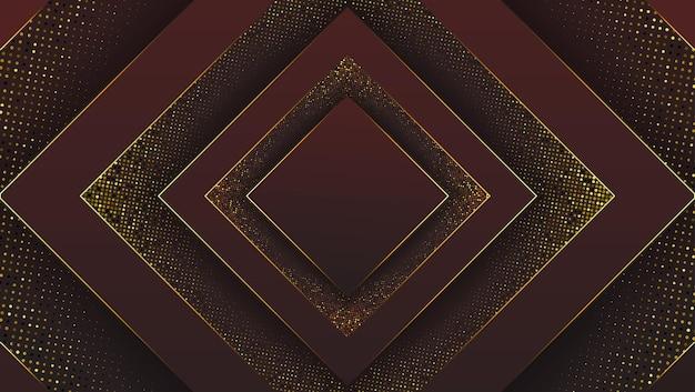 Czarne ciemne tło premium z luksusowym wielokątnym wzorem