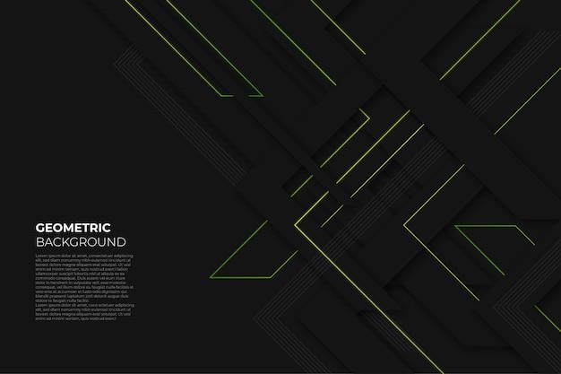 Czarne eleganckie geometryczne tło