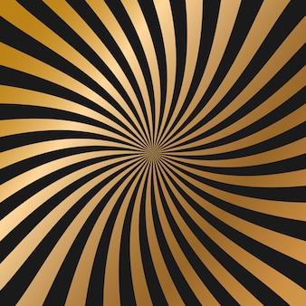 Czarne i złote błyszczące skręcone tło