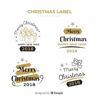 Czarne i złote świąteczne odznaki