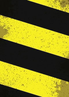 Czarne i żółte linie zagrożenia z efektami grunge
