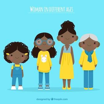 Czarne kobiety w różnym wieku