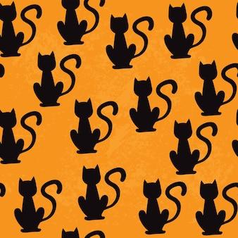 Czarne koty wzór