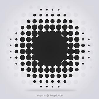 Czarne kropki w tle