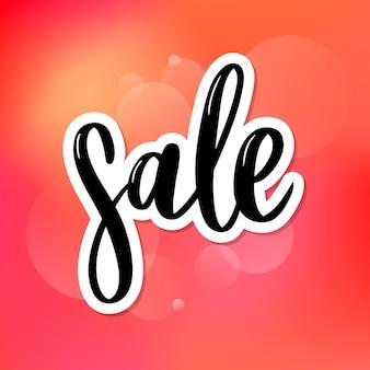 Czarne litery: sale, ręcznie naszkicowane typografia napisów sprzedażowych. ręcznie rysowane napis sprzedaż. odznaka, ikona, baner, tag, ilustracja