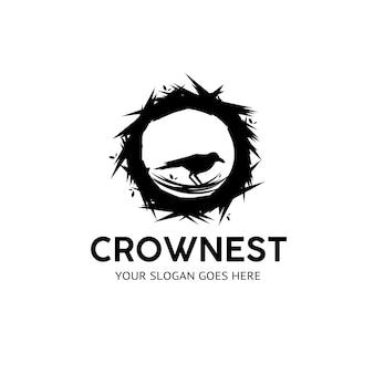 Czarne logo kruka