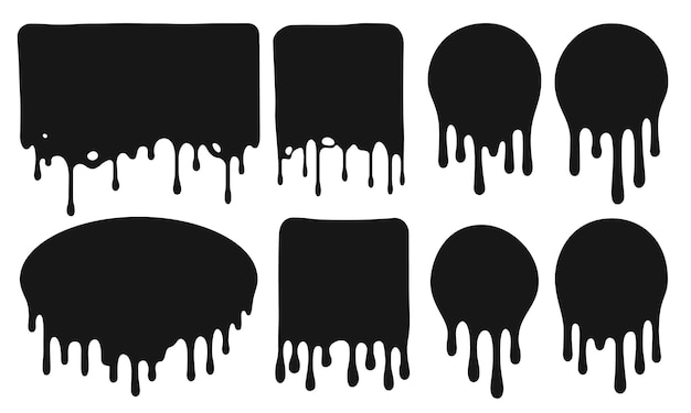 Czarne ociekające ramki