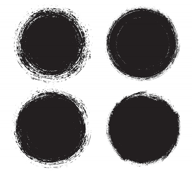 Czarne okrągłe ramki grunge