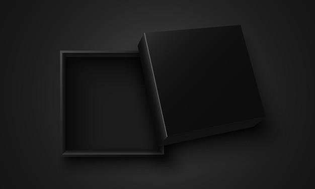 Czarne, Otwarte Pudełko Premium Wektorów