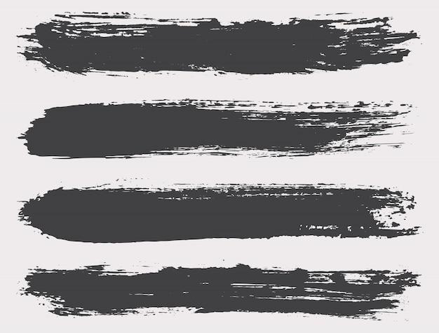 Czarne pędzle grunge