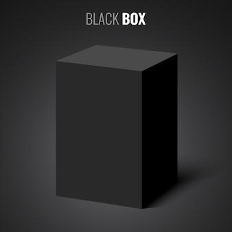 Czarne prostokątne pudełko.