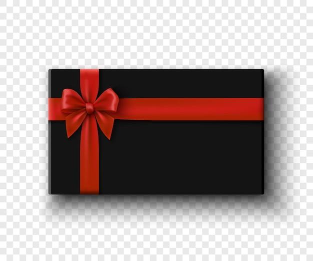 Czarne pudełko z czerwoną kokardką