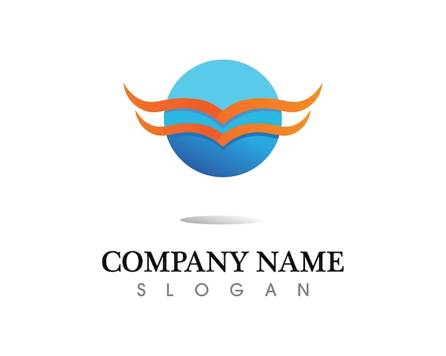 Czarne skrzydło symbol logo dla profesjonalnego projektanta