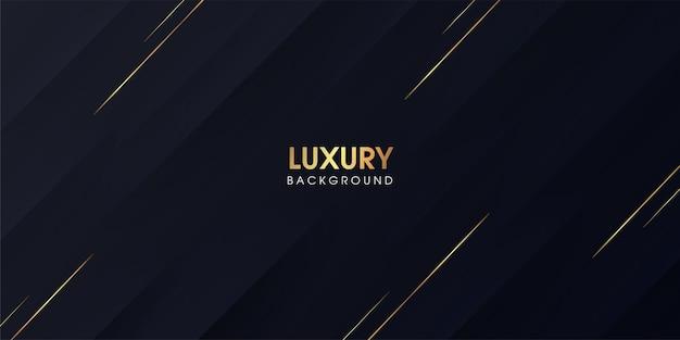 Czarne tło gradientowe z luksusowymi złotymi paskami