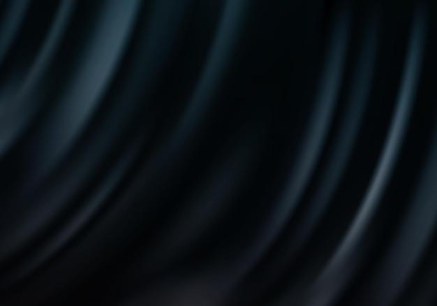 Czarne tło jedwabiu serweta tło przepływu fali