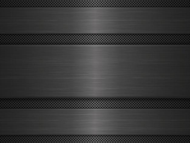 Czarne tło tekstury metalu.