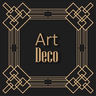 Czarne tło w stylu art deco