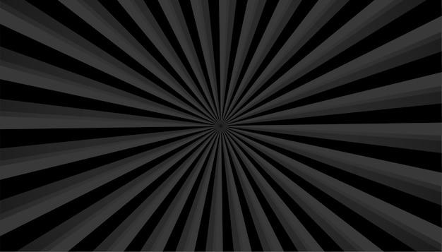 Czarne tło z efektem powiększenia promienie sunburst