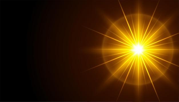 Czarne tło z efektem świecących promieni świetlnych