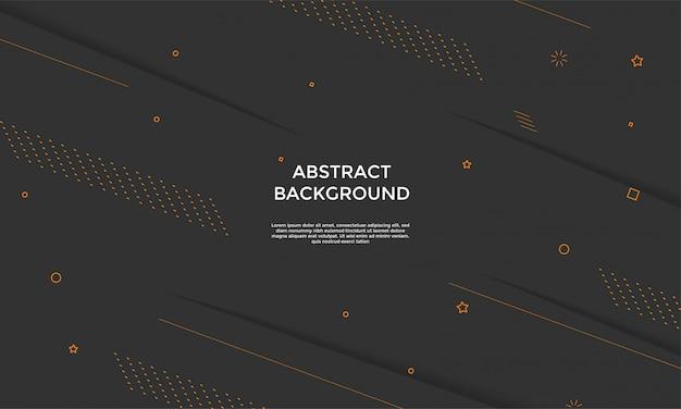 Czarne tło z kompozycją dynamiczne kształty