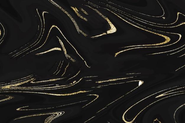 Czarne tło z marmurowego brokatu