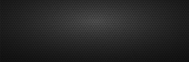 Czarne tło z nacięciem. geometryczne płytki węglowe z ostrymi narożnikami rzędy metalowe ostrza do minimalistycznej piły