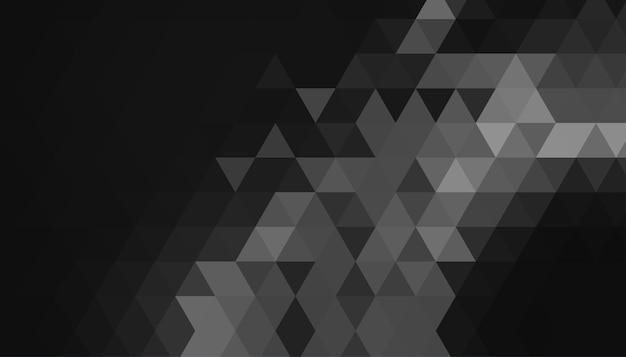 Czarne tło z trójkątnymi geometrycznymi kształtami
