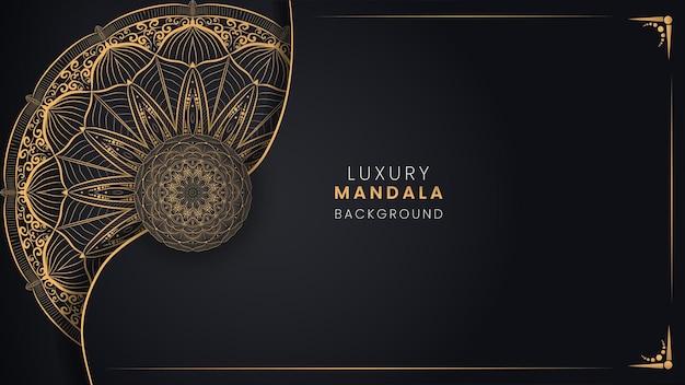 Czarne złote tło mandali