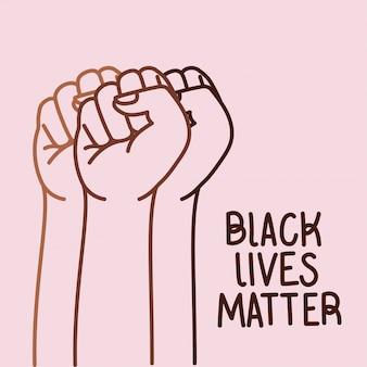 Czarne życie ma znaczenie dzięki konstrukcji wektorowej pięści