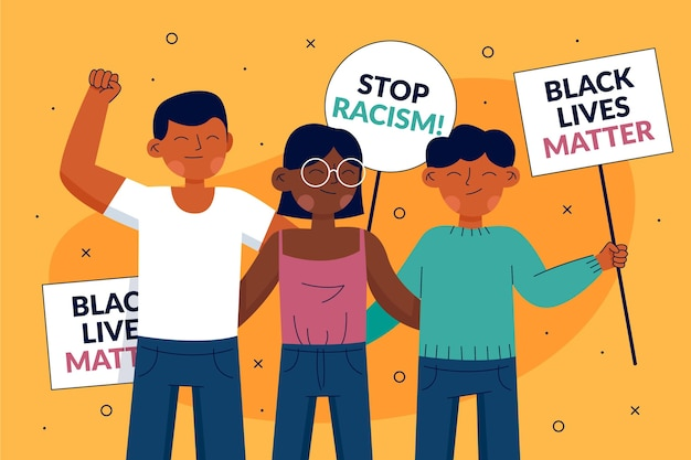 Czarne życie ma znaczenie protestujący zaprzestają koncepcji rasizmu