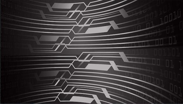 Czarnego cyber obwodu technologii pojęcia przyszłościowy tło