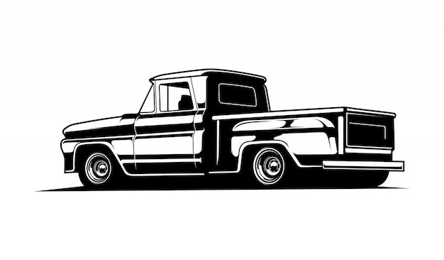 Czarno-biała klasyczna furgonetka