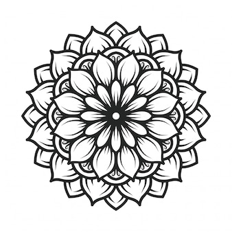 Czarno-biała mandala